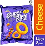 Oriental Malaysia Super Ring Classic Cheese Flavour Snack Family Pack Biscuit Biskut Teatime Halal Food Snacks Malaysia 14g x 8 Packs (per family pack)