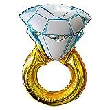 Giant Diamond Engagement Ring Mylar Balloons