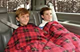 Car Cozy 2 - 12-Volt Heated Travel Blanket (Red Plaid, 58' x 42') with Patented Safety Timer by Trillium Worldwide