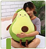 XICHEN 27 Inch Green Large Simulation Avocado Plush Toy Doll Sleeping Pillow Doll Doll, Holiday Warm Gift Plush Toy Pillows (Seated)