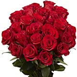 50 Red Roses - Fresh Cut Flowers - Guaranteed Delivery Thursday May 13