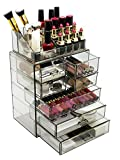 Sorbus Acrylic Cosmetic Makeup and Jewelry Storage Case Display - Spacious Design - Great for Bathroom, Dresser, Vanity and Countertop