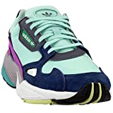 adidas Falcon Womens in Clear Mint/Collegiate Navy, 5