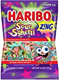 Haribo Gummi Candy, Z!ING Sour S'Ghetti, 4 oz Each, Pack of 12