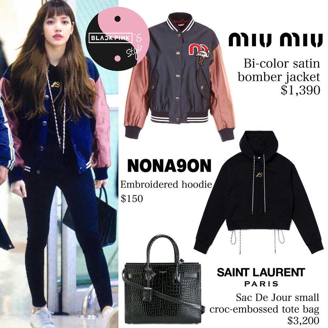 Blackpink Lisa Airport Fashion Outfit