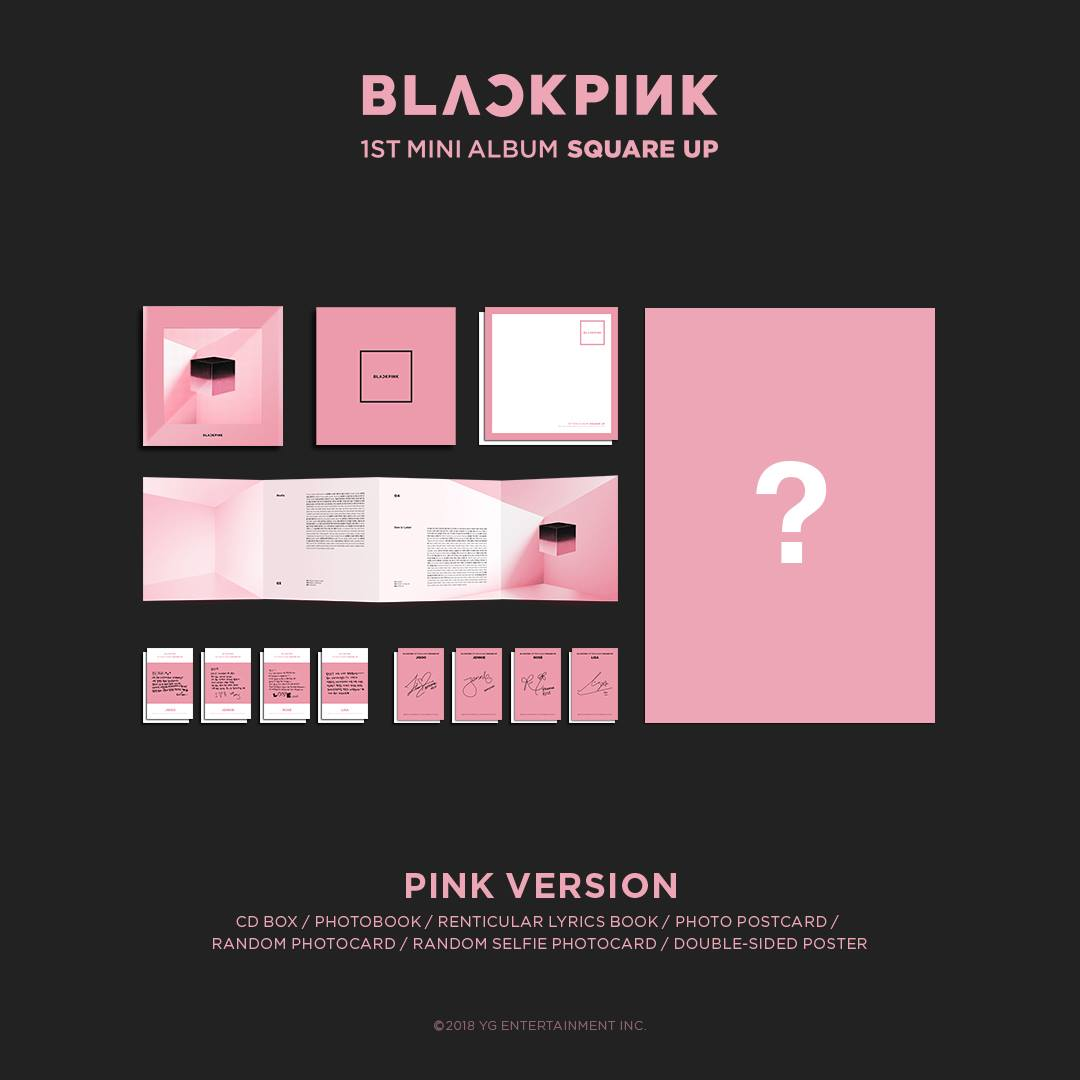 blackpink album square up pink version 5