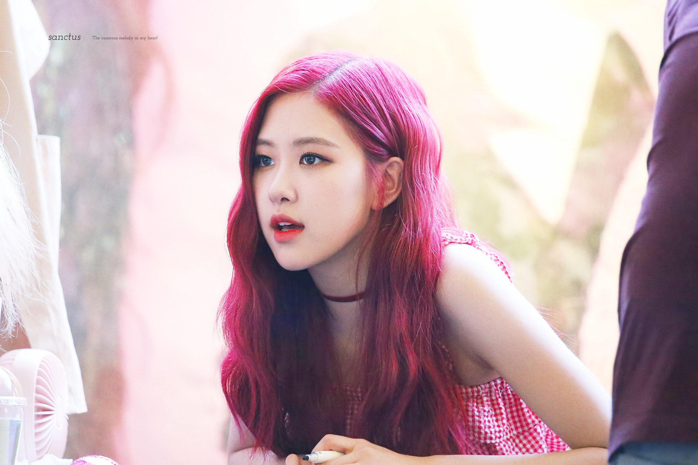 Rose BLACKPINK: BLACKPINK Rose Fansign Event Yeouido July 8, 2018 IFC Atrium 5