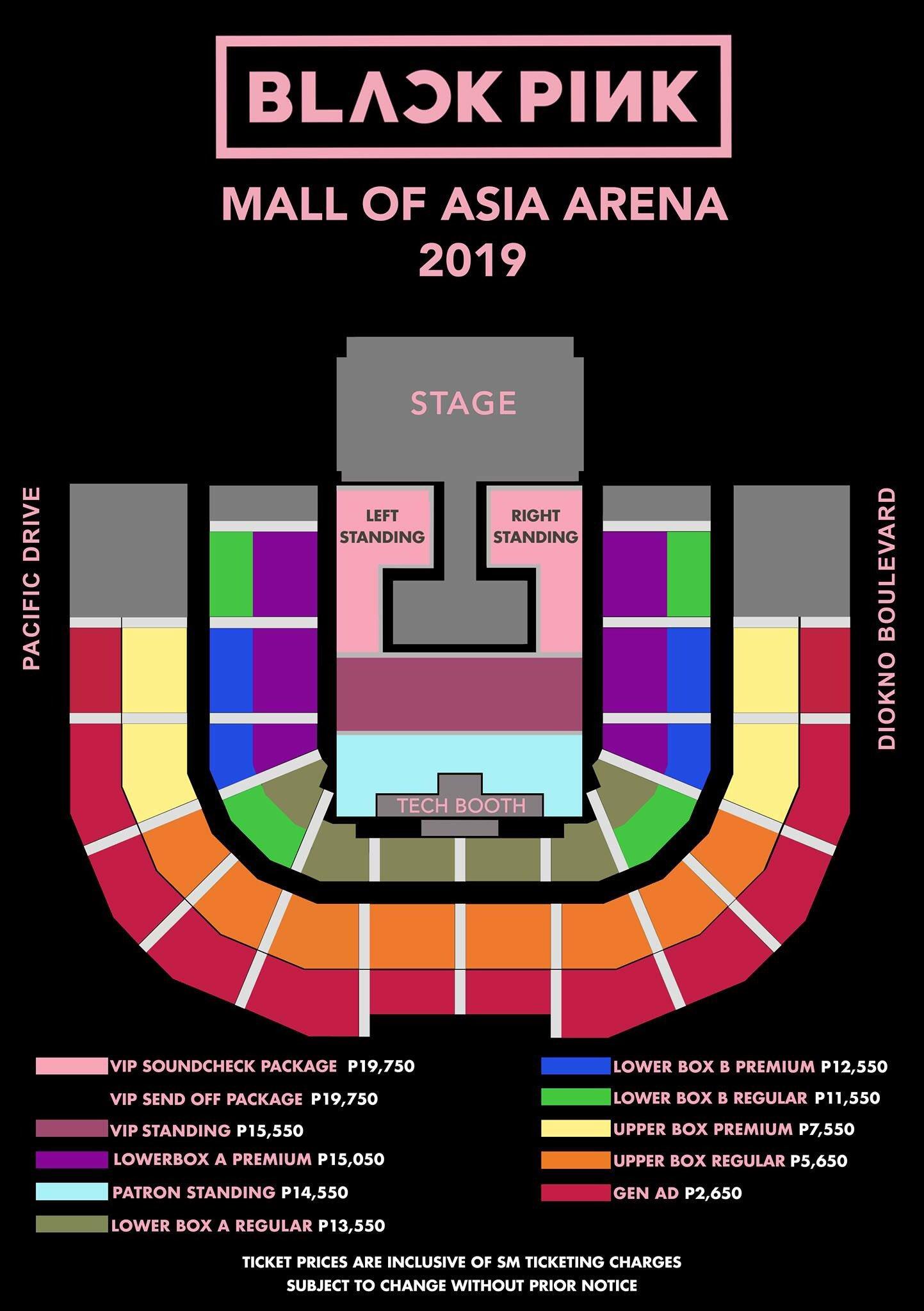 Seat Plan Blackpink Concert Manila Philippines